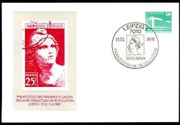 DDR PP18 D2/021a Privat-Postkarte 2. Auflage Leipzig Sost. 1989 - [6] Oost-Duitsland