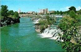 Idaho Idaho Falls Mormon Temple And Hospital Along East Bank Of Snake River - Idaho Falls