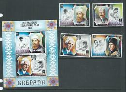 Grenada 1971 Education Year Set Of 4 & Miniature Sheet FU - Grenada (...-1974)