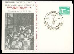 DDR PP18 D2/024 Privat-Postkarte LUFTPUMPE OTTO V. GUERICKE 2. Auflage Magdeburg Sost. 1986 - DDR