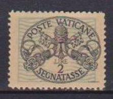 VATICANO  SEGNATASSE 1945 TRIREGNO E CHIAVI DECUSSATE SASS. 11  MNH XF - Postage Due