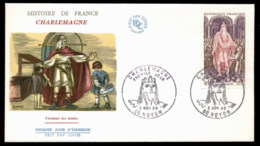 France 1966 History, Charlemagne, Noyon FDC - 1960-1969