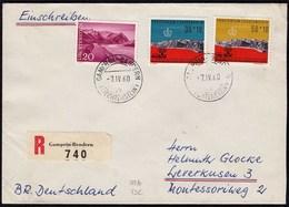 Liechtenstein R-Brief V.Gamprin-Bendern - Leverkusen Mi.389-90, 382  (23241 - Liechtenstein