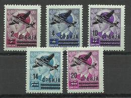 Serbia Serbien 1942 German Occupation Michel 66 - 70 * Air Planes - Besetzungen 1938-45