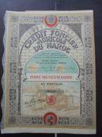 MAROC - LOT DE 2 TITRES - CREDIT FONCIER AGRICOLE DU MAROC - PART BENEFICIAIRE -PARIS 192 - BELLE ILLUSTRATION - Actions & Titres