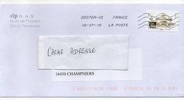 2019--tp Adhésif   Arts De La Table -- Terrine--Production Vincennes    Seul Sur Lettre -- .................à Saisir - Postmark Collection (Covers)