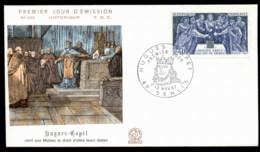 France 1967 History, Huges Capet, Senlis FDC - 1960-1969