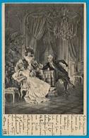"""CPA Couples """"LA QUESTION"""" ** Couple Marquise Marquis D'après Gravure ° Sirven Imp. édit. - Paare"""