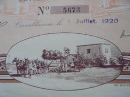 MAROC - CASABLANCA 1920 - LOT DE 2 TITRES - STE DES FERMES MAROCAINES - ACTION DE 500 FRS - BELLE DECO - Unclassified