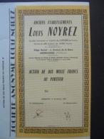 FRANCE - 57 - MORHANGE 1959 - LOT 5 TITRES, NON EMIS - ANC ETS LOUIS NOYREZ - ACTION DE 10 000 FRS - Unclassified