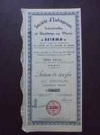MAROC - RABAT 1948 -  STE D'ENTREPRISES INDUSTRIELLES ET ROUTIERES AU MAROC - ACTION DE 500 FRS - PETIT TITRE - Unclassified