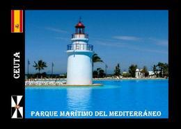 Ceuta City Parque Maritimo Del Mediterraneo Lighthouse New Postcard Leuchtturm AK - Fari