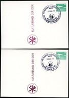 DDR PP18 D2/035 2 Privat-Postkarten FARBAUSFALL BRAUN FARBVARIANTEN Sost. 1983 - [6] Oost-Duitsland