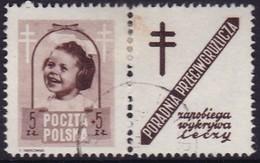 POLAND 1948 Anti-TB Fi 486 Pw9 Used - Used Stamps