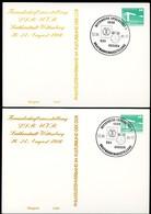 WAGNER LISZT DDR PP18 D2/036 2 Privat-Postkarten FARBAUSFALL GRAU FARBVARIANTEN Sost.1986 - Musica