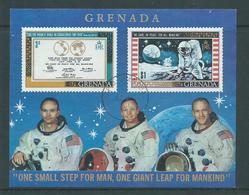 Grenada 1969 Space & Moon Landing Miniature Sheet Used , Couple Tiny Surface Rubs - Grenada (...-1974)