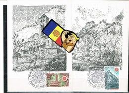 MAX ANDORRE ANDORRAFR  1978 EUROPA (2) - Cartoline Maximum