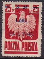 POLAND 1945 Lodz Fi 351 II Mint Hinged (heavy Adhesion To Back) - Nuovi