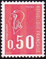 France Marianne De Béquet N° 1664 C ** Variété 3 Bandes De Phosphore Sur Le 0.50fr Rouge - 1971-76 Marianne De Béquet