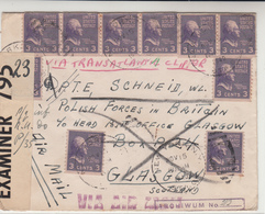 U.S. / Airmail / G.B. / Free Polish Forces / Poland / Undercover Mail - Unclassified