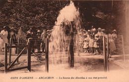 Arcachon (Côte D'Argent) La Source Des Abatilles à Son état Primitif - Carte Sépia Non Circulée - Arcachon