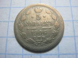 Russia , 5 Kopeks 1906 СПБ ЭБ - Russia