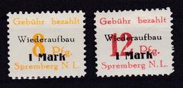Spremberg Wiederaufbau (II) Gezähnt, ** - Germany