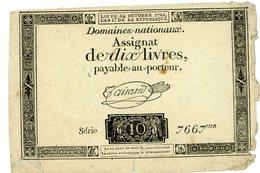 1792 ASSIGNAT DE 10 LIVRES DFT - ...-1889 Anciens Francs Circulés Au XIXème