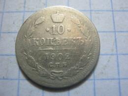 Russia , 10 Kopeks 1902 СПБ AP - Russia