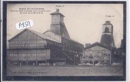 COURRIERES-LES MINES- LA CATASTROPHE- FOSSE N 4 ET II- BANDEAU NOIR - Andere Gemeenten