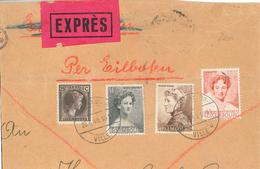 Mehrfach Gefalteter Grossbrief Express 1940 - Marie Adelaide - Marie Anne - Charlotte - Luxembourg