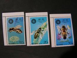 Korea , 1979 Honigbiene 1929 - 1931 ** MNH  € 7,00 - Corea Del Norte