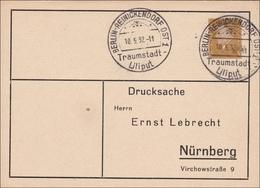Ganzsache: Berlin Reinickendorf Traumstadt Liliput 1932 Nach Nürnberg - Germany