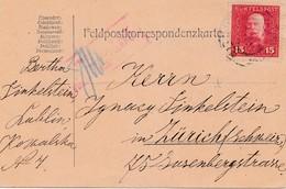 1917: KuK Feldpost Lublin Nach Zürich, Zensiert Feldkirch - Autres - Europe