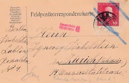 Feldpostkarte 1916, KuK Feldpost Lublin Nach Zürich, Zensiert Feldkirch - Autres - Europe