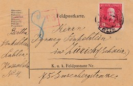 1918: Feldpostkarte, KuK Feldpost Lublin Nach Zürich, Zensiert Feldkirch - Europe (Other)