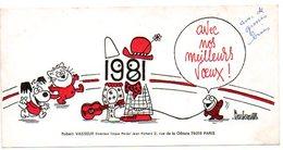 Dessinateur BARBEROUSSE : Carte De Voeux 1981, Robert VASSEUR Directeur Du CIRQUE PINDER Jean Richard. - Autres Collections