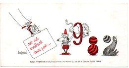 Dessinateur BARBEROUSSE : Carte De Voeux 1982, Robert VASSEUR Directeur Du CIRQUE PINDER Jean Richard, Signature BOZ . - Autres Collections