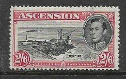 Ascension Island, GVIR, 1944, 2s6d, Perf 13, MH * - Ascension
