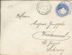 Alexandria 1898 Ganzsache Nach Wädenswil RsA - Égypte