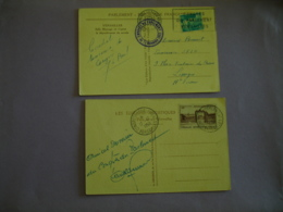 Lot De 2 , 17.12.1953 Congres Du Parlement Obliteration Sur Lettre - 1921-1960: Modern Tijdperk