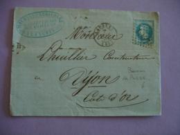 Bureau Passe 1307 Poste Ferroviaire  Langres  1947 Gros Chiffre  Timbre Ceres - 1849-1876: Période Classique