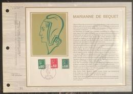France - Document Philatélique - FDC - Premier Jour - YT N° 1814 à 1816 - Marianne - 1974 - 1970-1979