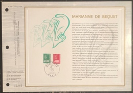 France - Document Philatélique - FDC - Premier Jour - YT N° 1815 Et 1816 - Marianne - 1974 - 1970-1979