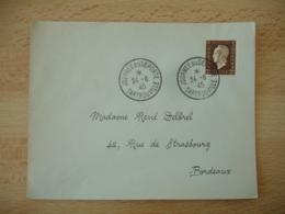 1945 Sartrouville Journee Du Deporte Obliteration Sur Lettre - Marcophilie (Lettres)