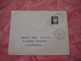 1942 Bourges Exposition Philatelique Obliteration Sur Lettre - Marcophilie (Lettres)