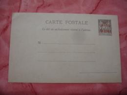 Surcharge Rouge Poste Francaise Madagascar Sur Entier Postal Sage - Lettres & Documents