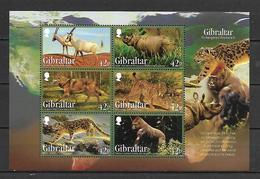Gibraltar 2012 Endangered Animals Sheetlet MNH - Ohne Zuordnung