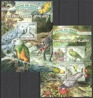 ST2816 !!! LAST 2 IN STOCK 2013 NIGER FAUNE NIGER BIRDS PARROTS LES PERROQUETS KB+BL MNH - Perroquets & Tropicaux