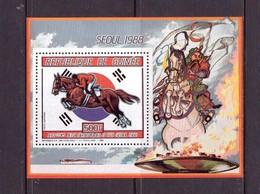 GUINEE  1987 JOI SEOUL-EQUITATION  YVERT N°A210  NEUF MNH** - Jumping